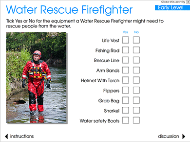 Image of Water Rescue Fire Fighter